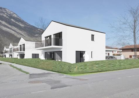 Villa jumelée par le garage à Saxon